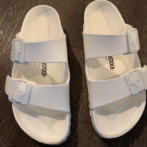 Birkenstock White Arizona Eva Sandals Size 37